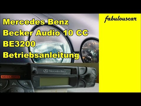 Bedienungsanleitung Operation Guide Manual | Mercedes Benz Becker Radio  Audio 10 CC BE3200