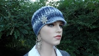 How To #Crochet Ladies Ribbed Newsboy Hat #TUTORIAL #335