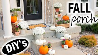 Fall Front Porch Decor 2019 🍂 Decorate with Me 🍂 Farmhouse Decorating Ideas