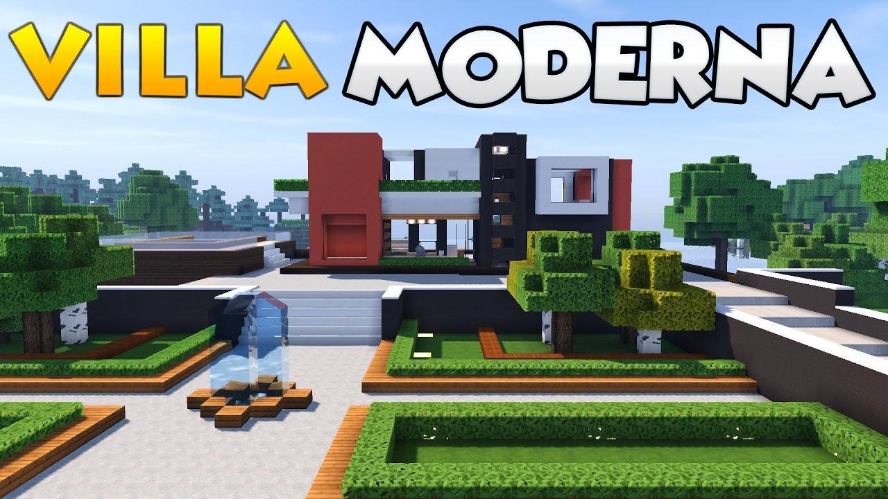 Come costruire una villa su minecraft parte 1 youtube for Come costruire una villa