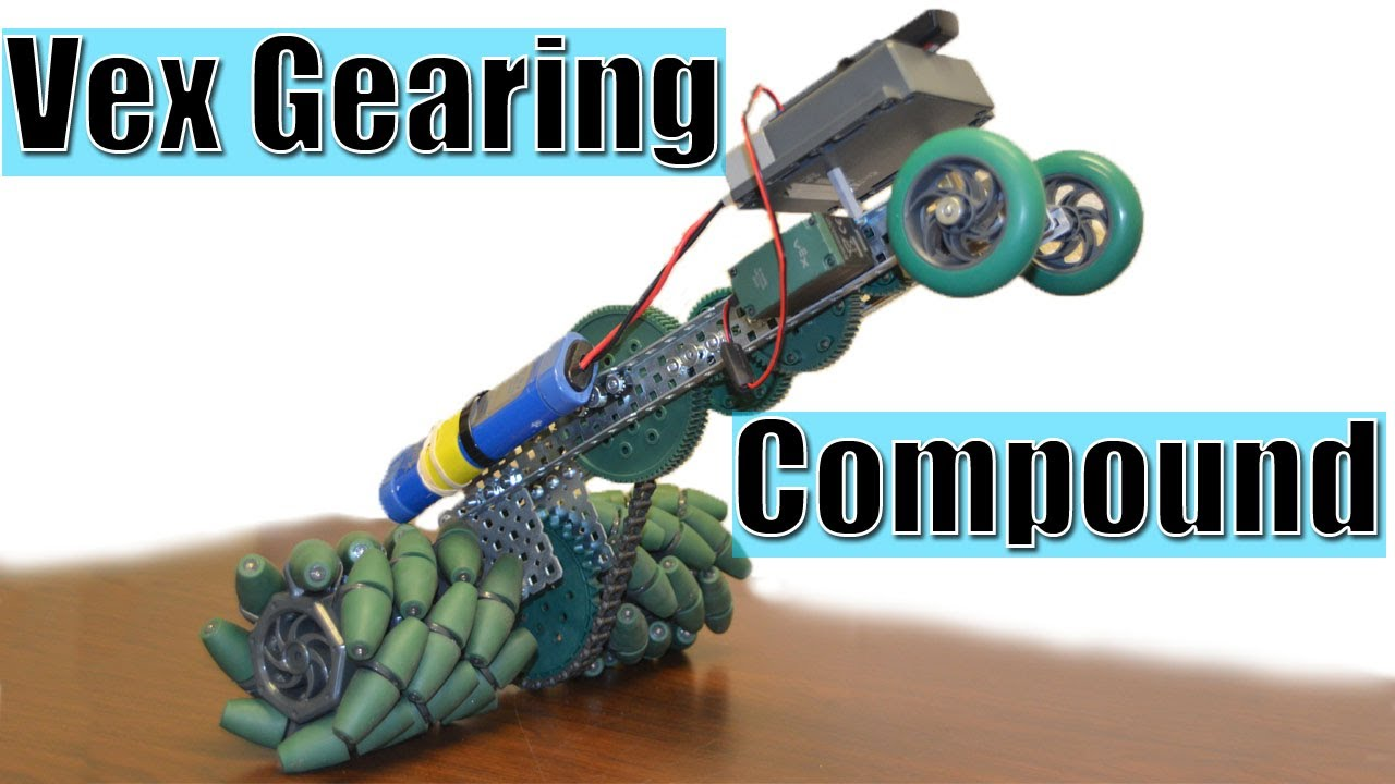 How To Calculate Gear Ratio >> Vex Gearing- Compound - YouTube