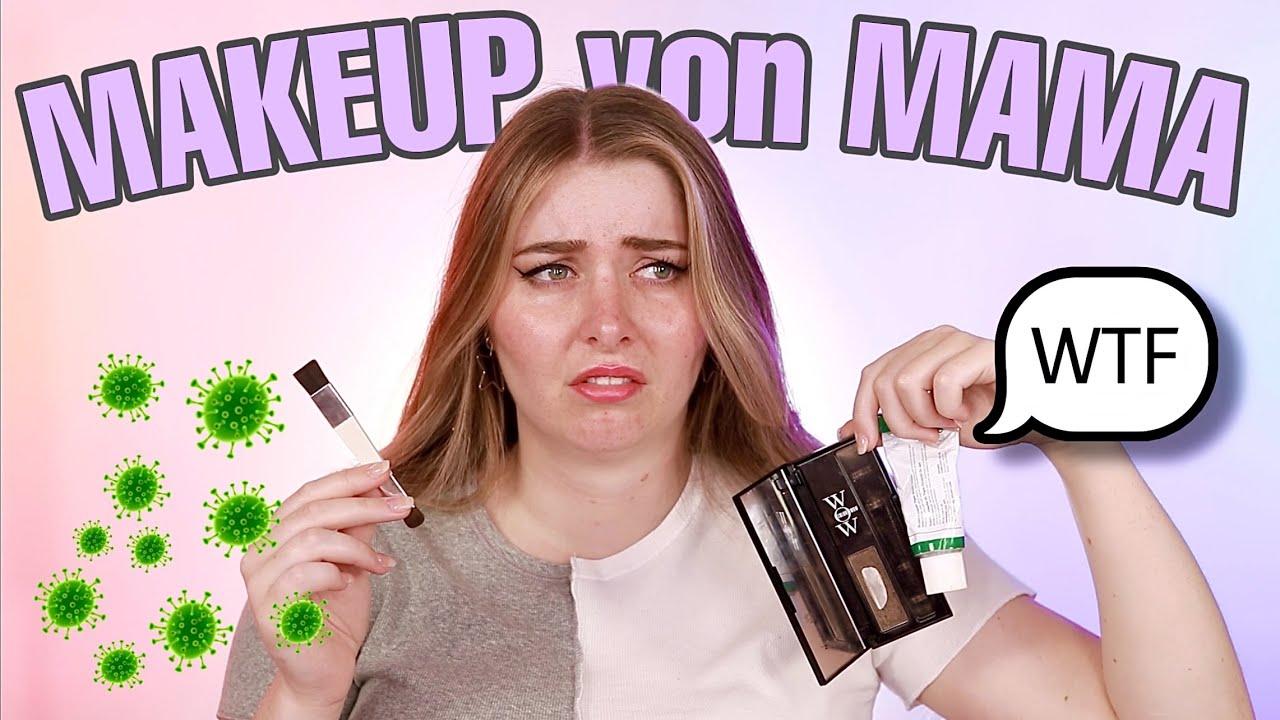 Ich schminke mich mit dem Makeup von meiner MAMA! 😩