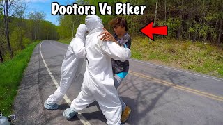 Angry Doctors Steal My Dirt Bike