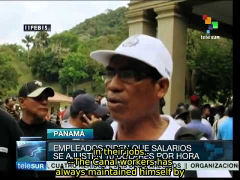 Panama Canal workers demand wage increase, job security