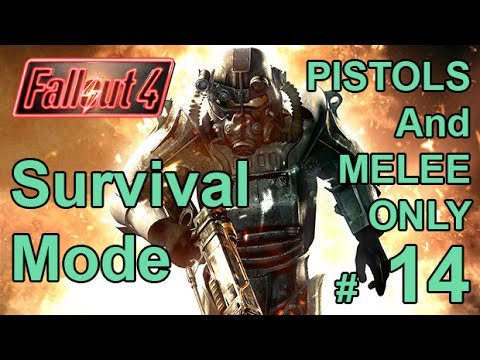 FALLOUT 4 (Survival Mode) PISTOLS AND MELEE ONLY! Part 14 – Behemoth SWAN And Shroud's Ghouls