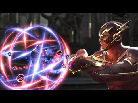 Injustice 2 : Atom Vs Flash - All Intro/Outros, Clash Dialogues, Super Moves