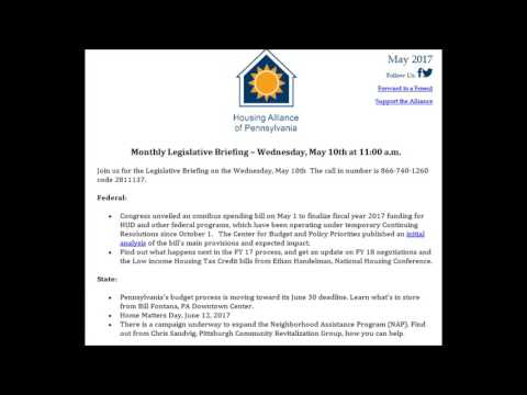 May Legislative Briefing