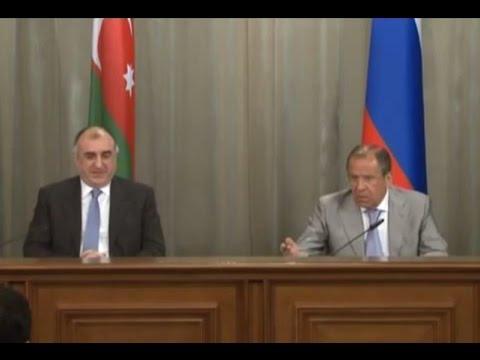 LIVE: Lavrov and Azerbaijan FM Mammadyarov hold press conference