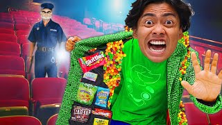 10 Ways To SNEAK CANDY Into The Movies Theater..