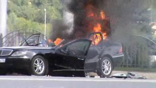 Взрыв мерседеса, со съемок фильма