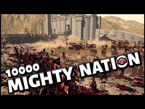 10000 MIGHTY NATION ! Battle of Helms Deep - Men OF War Assault Squad 2