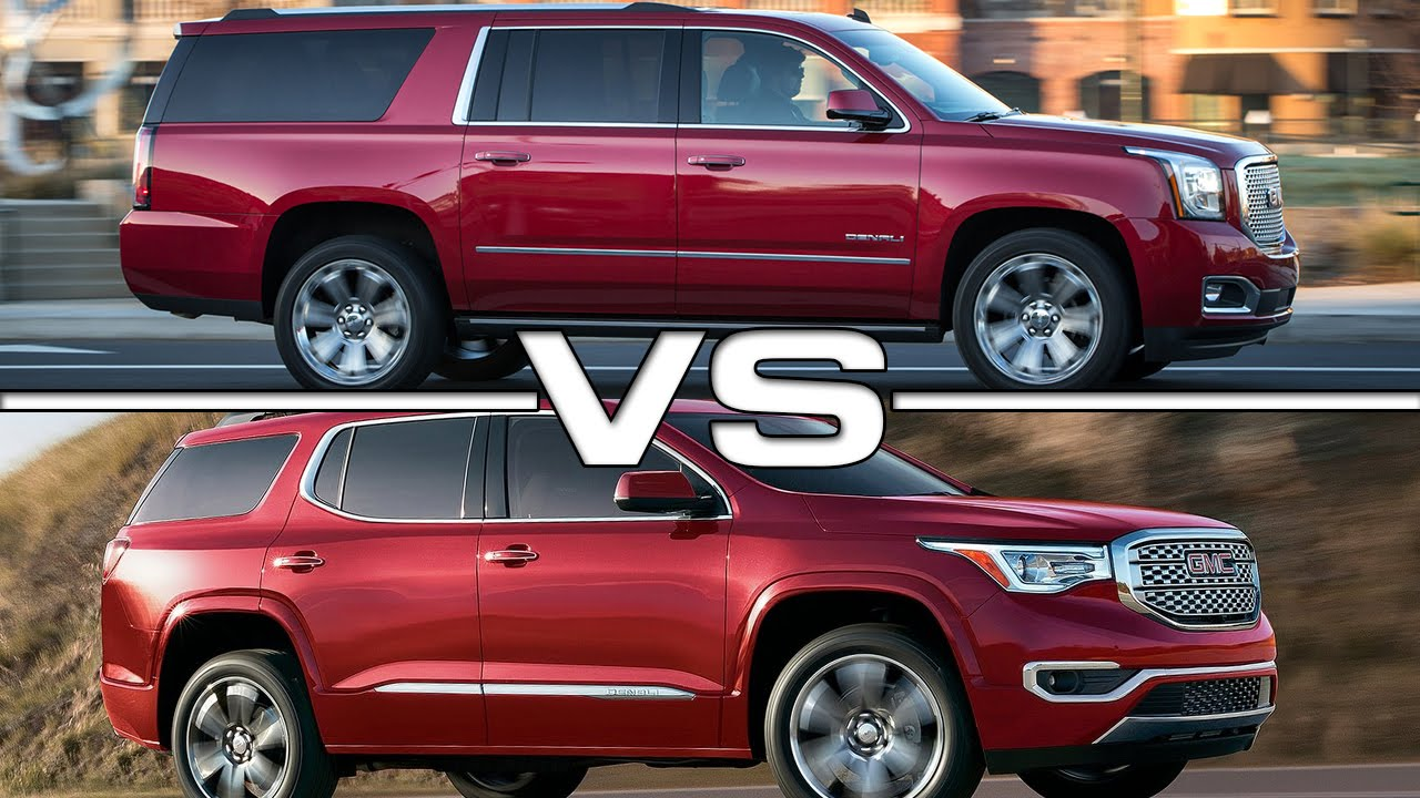 Suburban Vs Tahoe Vs Yukon >> GMC Acadia vs GMC Yukon XL Road Test - YouTube