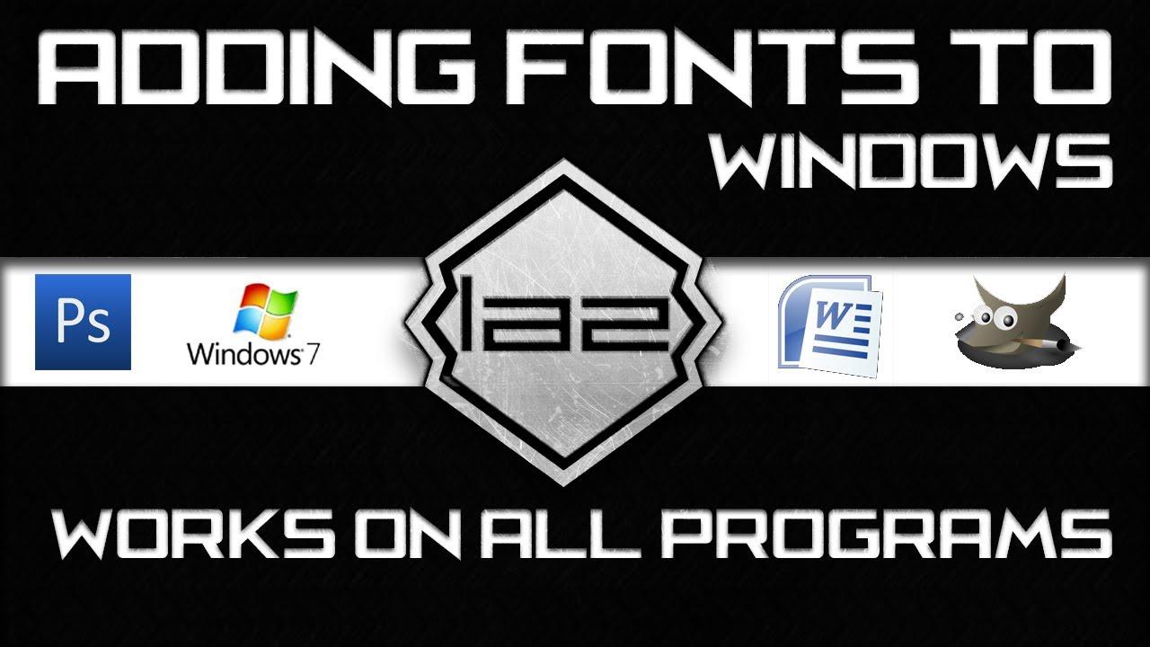 Hd how to add fonts to photoshop cs6 cs5 cs4 windows hd how to add fonts to photoshop cs6 cs5 cs4 windows microsoft word gimp etc ccuart Choice Image