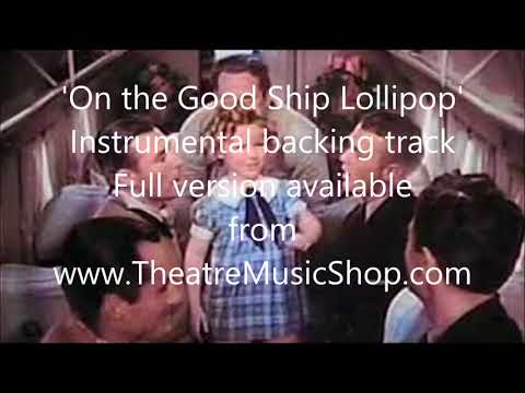 On the Good Ship Lollipop (Shirley Temple) - Instrumental backing track
