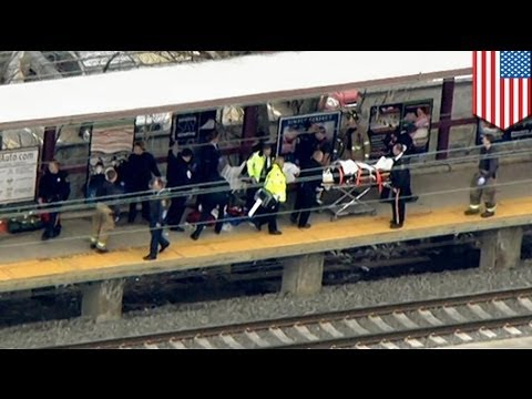 Four injured by flying body parts as train hits man at New Brunswick station, NJ