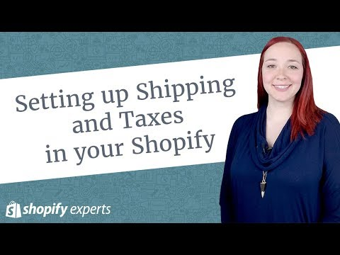 Setting Up Shipping And Taxes In Your Shopify