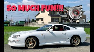 Driving Mark's BIG TURBO SUPRA!