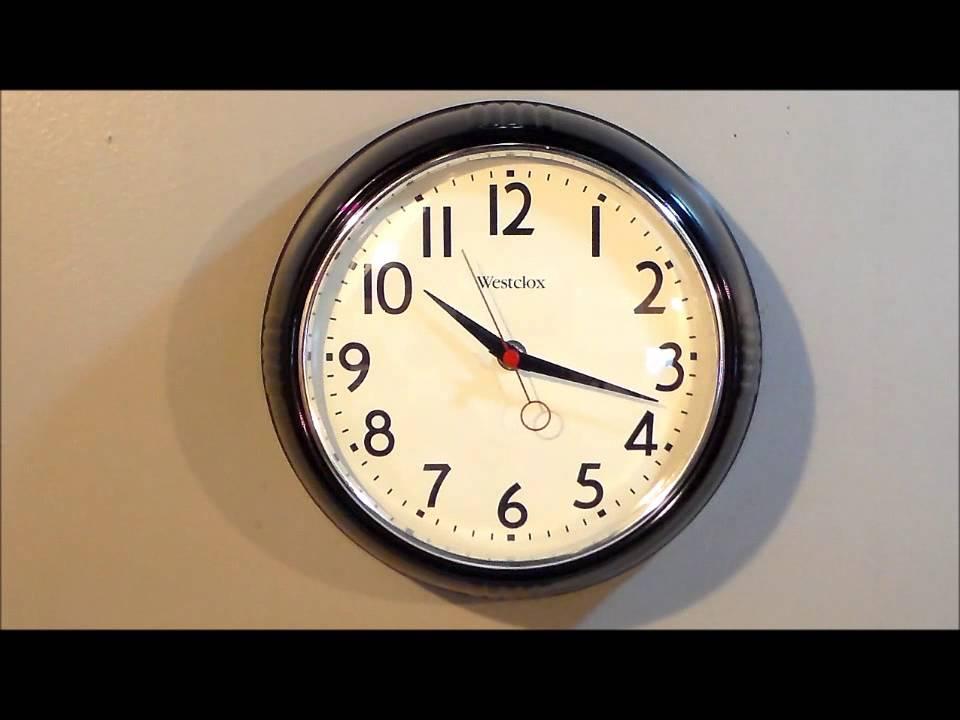 Westclox 32042bk 9 1 2 Quot Black Retro Quartz Wall Clock
