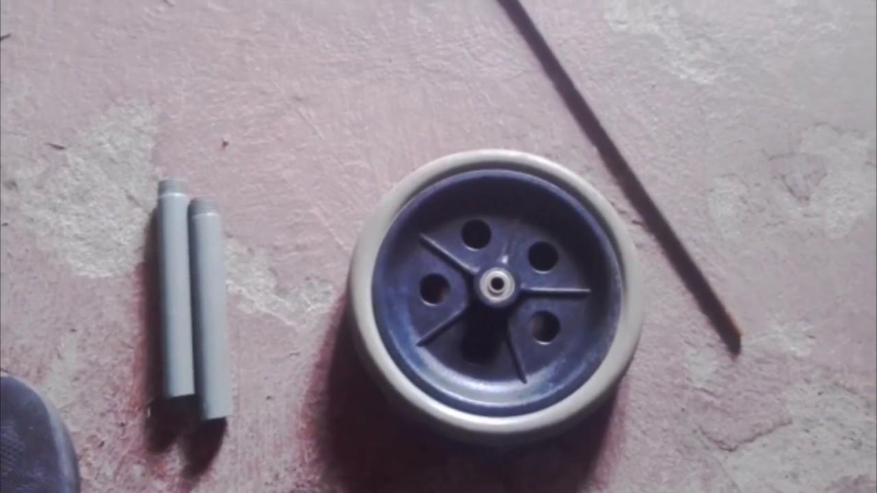 como hacer una rueda para abdominales casera
