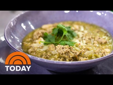 Padma Lakshmi's Pork Chile Verde Perfect For Football Game Day | TODAY