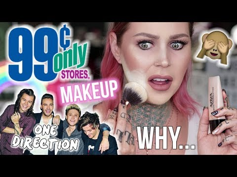 FULL FACE .99 Cent Store Makeup Challenge / Review | KristenLeanneStyle