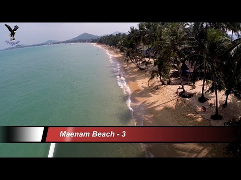 Maenam Beach 3 Koh Samui Thailand  overflown with my drone