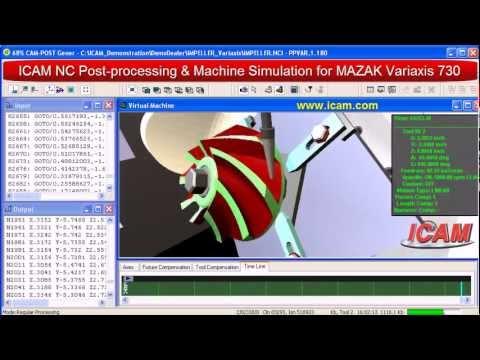 ICAM Virtual Machine for MAZAK Variaxis- CNC Simulation, cnc machine tool crash prevention