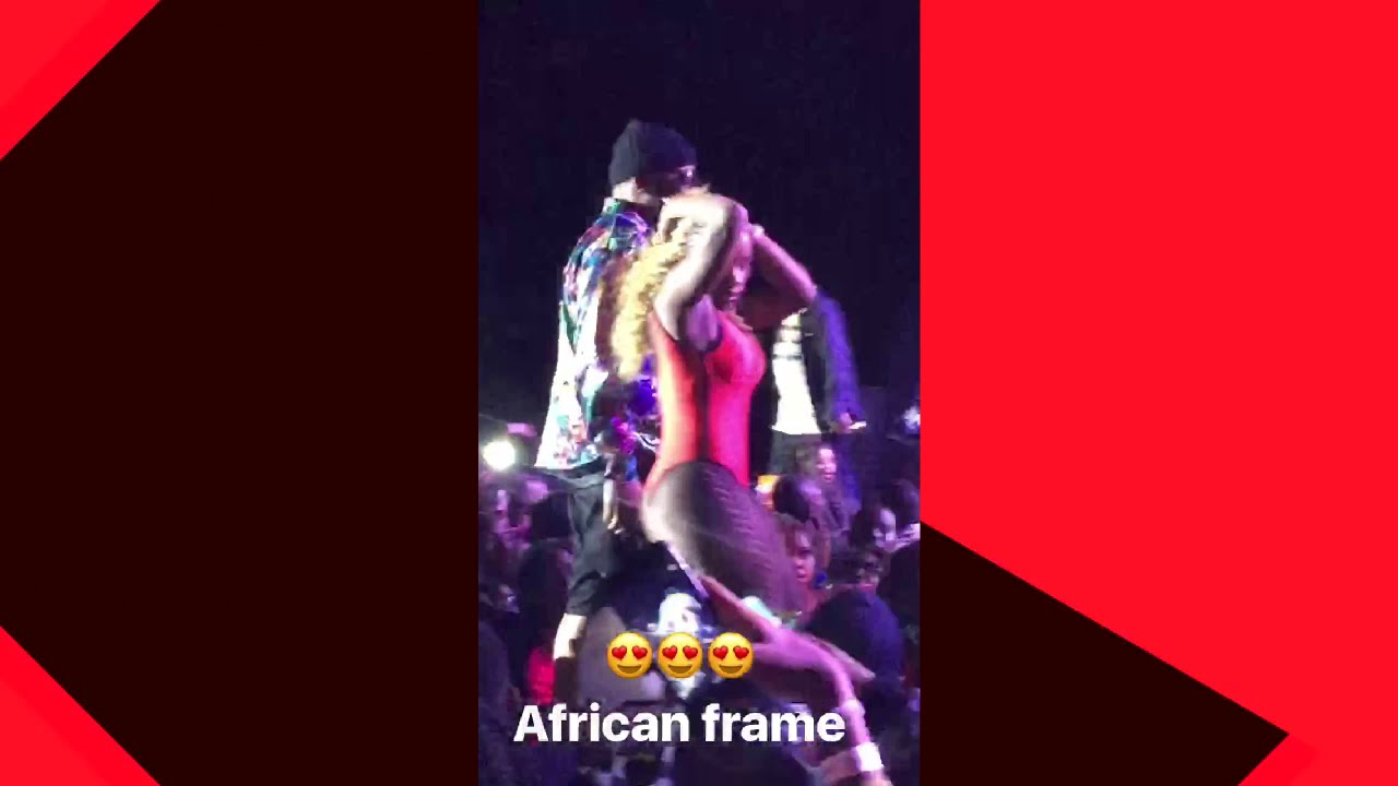 Sexy Dancers During The Kansoul Performance At Tekno Miles Concert Kenya