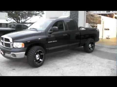 Dubsandtires.com XD Series Spy Black wheels 2003 Dodge Ram Before&After 2 Inch Lif Offroad Truck