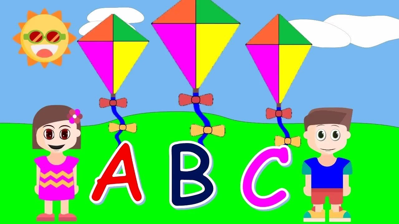 تعليم A.B.C بطريقى جميله تعجب  الاطفال ونطق الكلمات الانجليزية