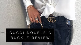 GUCCI DOUBLE G BELT BUCKLE REVIEW | Lina Noory