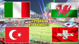 Футбол Евро 2021 Италия Уэльс Швейцария Турция Кто выйдет в 1 8 плейофф Евро 2020