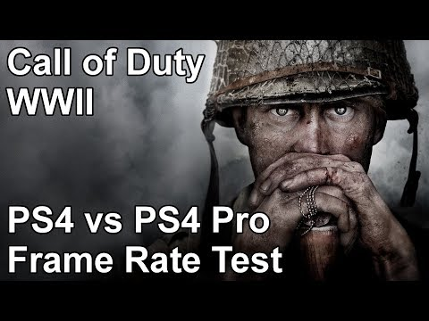 Call of Duty WW2 PS4 vs PS4 Pro Frame Rate Test