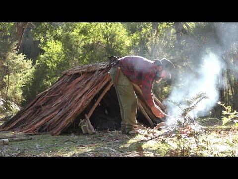 Permanent Aussie Bushcraft Camp Set Up 1