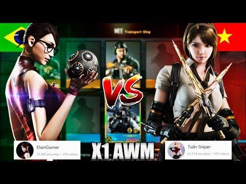CrossFire: Legends - Tuấn Sniper CFL VN vs. ElainGamer CFL BR   X1 de sniper