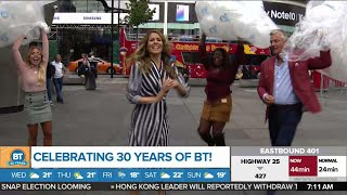 Balloon giveaways for 30 years of BT!