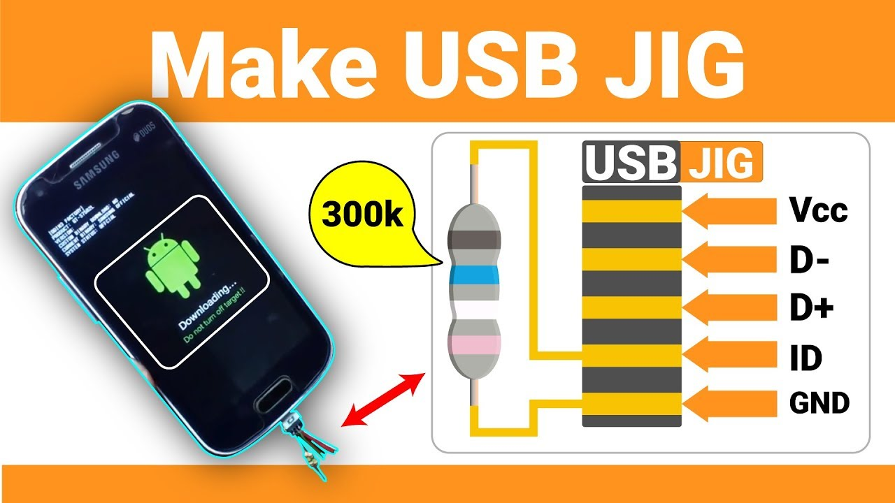 Samsung USB JIG making with diagram ( Un-brick,restore flash with USB  easily) | ZM Lab