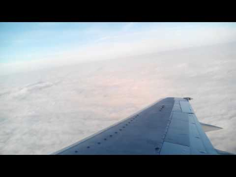 Take off from Sheremetyevo International Airport, Moscow, Russia