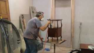Refinishing A Oak Side Table Timeless Arts Refinishing