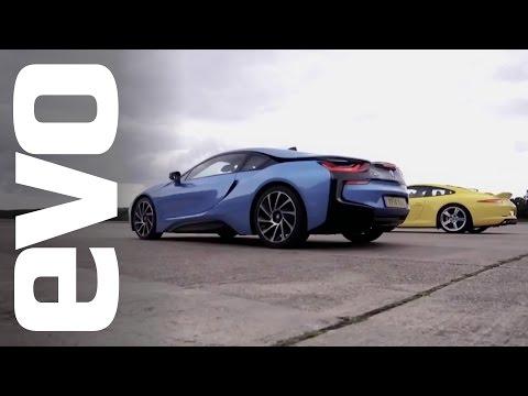 BMW i8 v Porsche 911 Carrera S | evo DRAG BATTLE