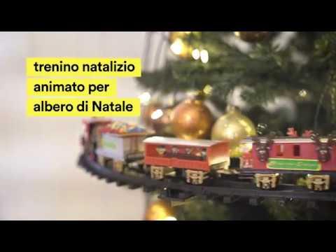 Treno natalizio animato per albero di natale youtube for Obi albero di natale
