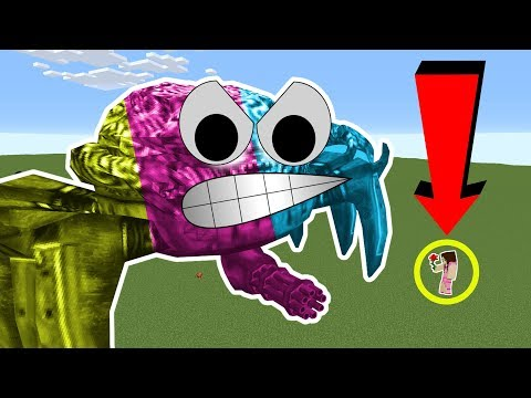 Minecraft: HUMONGOUS BOSSES!!! (RUN OR DIE!!!) Mod Showcase