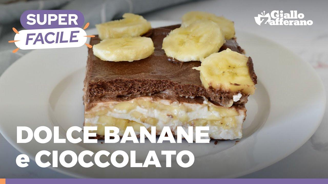 DOLCE alle BANANE SUPER GOLOSO 🍌🤤😋 E SENZA COTTURA!!!