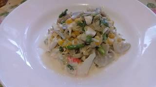 Крабовый постный салат / Очень вкусный / Готовится быстро и легко!!!!