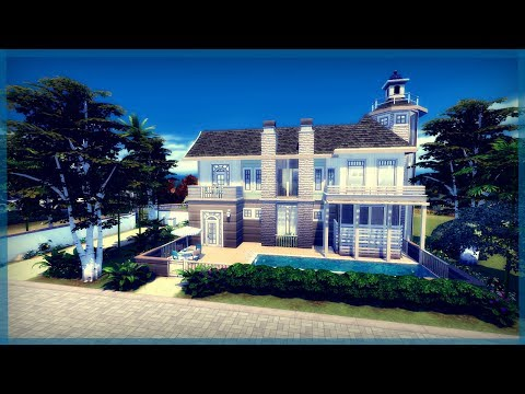 The Sims 4 House Build | Luxury Beachfront Home | Beladona Cove