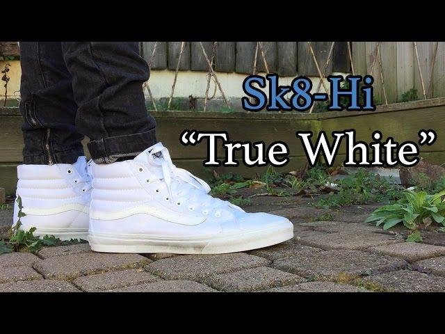 Vans Sk8-Hi   True White   On Feet
