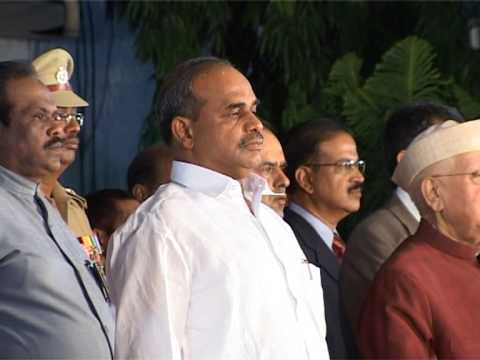 YSR CM SWEARING CEREMONY AT RAJBHAVAN GOVERNOR ND TIWARI JANAAGANA MANA SOUND VIS