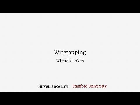 Wiretapping (Wiretap Orders)