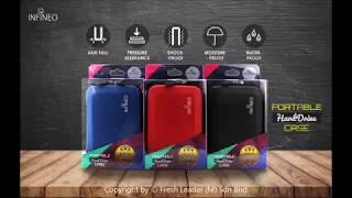 Infineo Portable Hard Drive Case for External Hard Drive