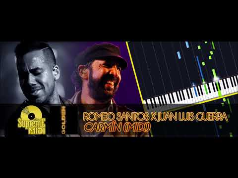 Romeo Santos ft. Juan Luis Guerra - Carmín (FULL MIDI / PIANO / CHORDS)